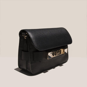 Proenza Schouler - PS11 Mini Classic Bag - black - angled view, available at LCD.