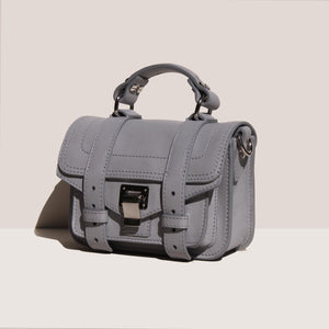 Proenza Schouler - PS1 Micro Bag, angled view, available at LCD.
