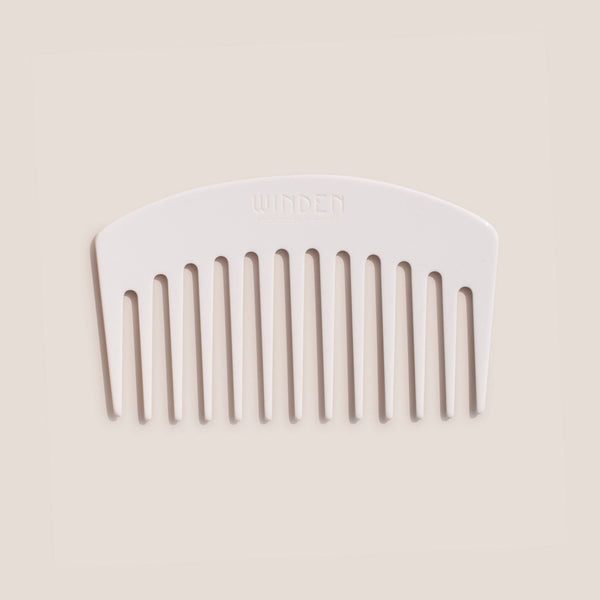 Winden - Paige Travel Comb - Cream, front view, available at LCD.