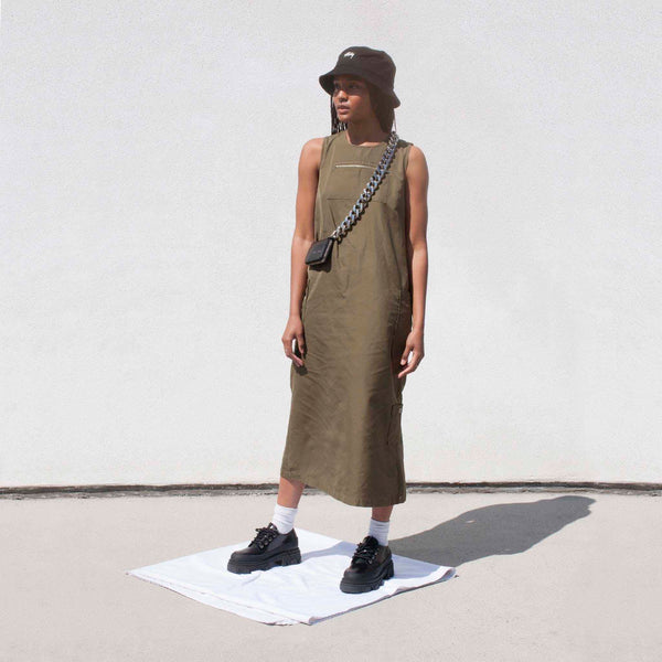 Stussy - Palm Cargo Dress, front view.
