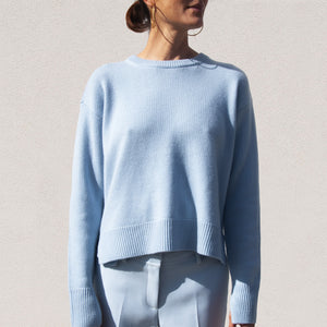 Sies Marjan - Pardis Cashmere Crew Neck Sweater, front view, available at LCD.