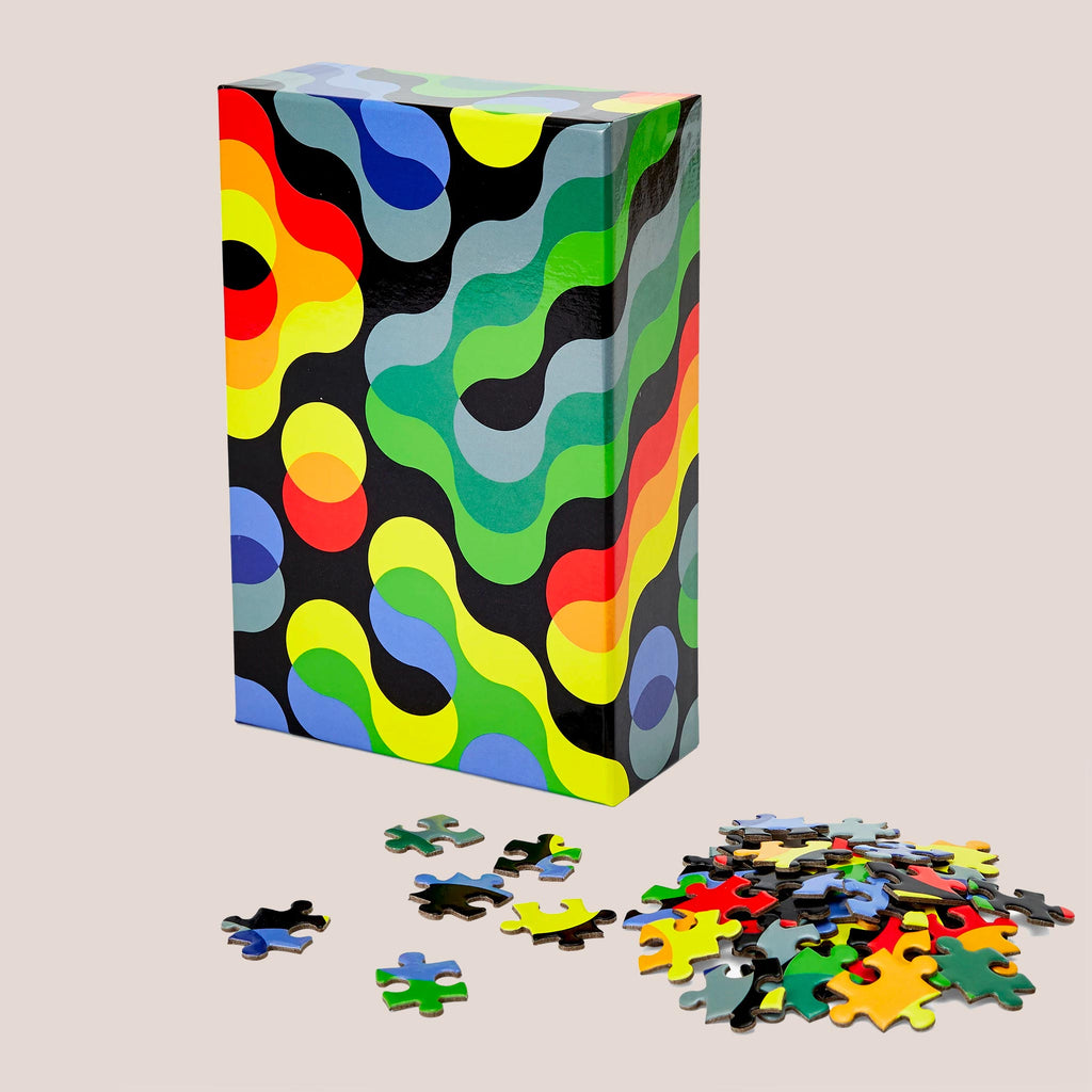 Areaware - Dusen Dusen Pattern Puzzle - Arc, angled view, available at LCD.