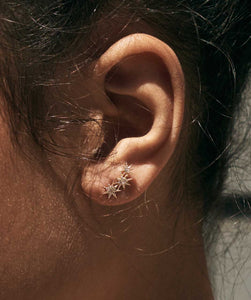 Gabriela Artigas - Pave Triple Star Earrings, available at LCD