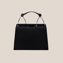 Load image into Gallery viewer, Phoebe Bis Leather Bag- Dove/Black