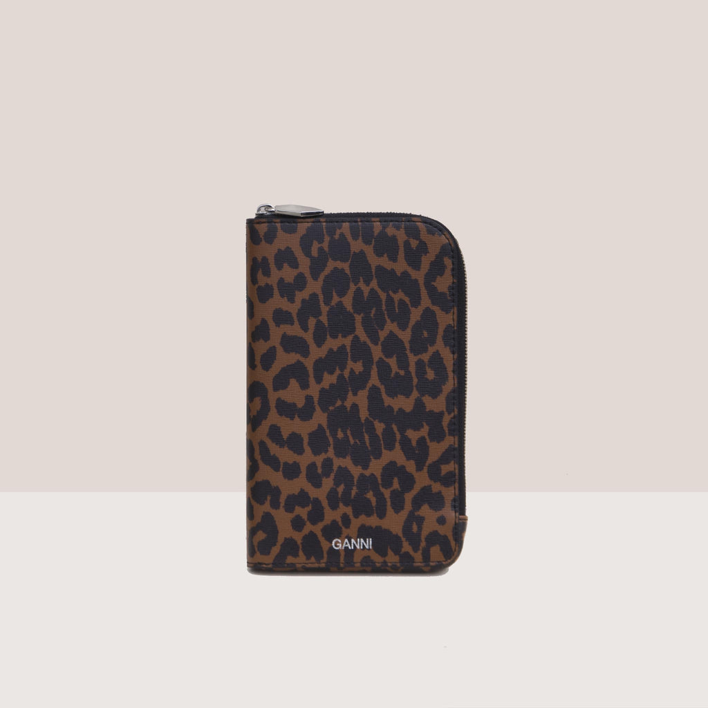 Ganni - Phone Bag - Toffee Animal Print, available at LCD.
