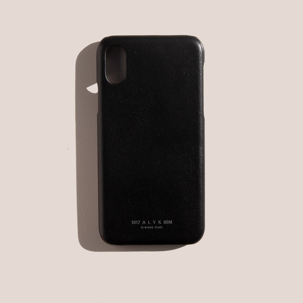 1017 Alyx 9SM - Leather iPhone Case - Black, available at LCD.