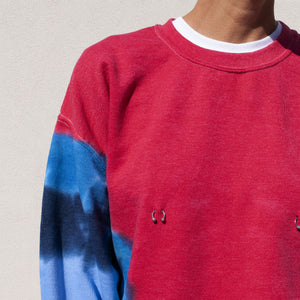 Collina Strada - Pierced Crewneck, detail view, available at LCD.