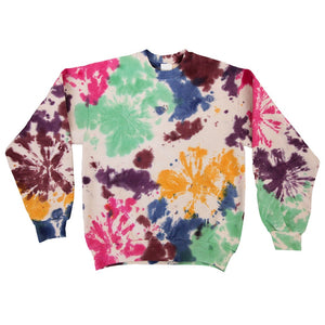 Kkco - Pierced Sweatshirt - Tie Dye, front view, available at LCD.