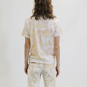 Collina Strada - Pierced Tee - Beige Spiral, back view, available at LCD.