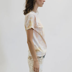 Collina Strada - Pierced Tee - Beige Spiral, side view, available at LCD.