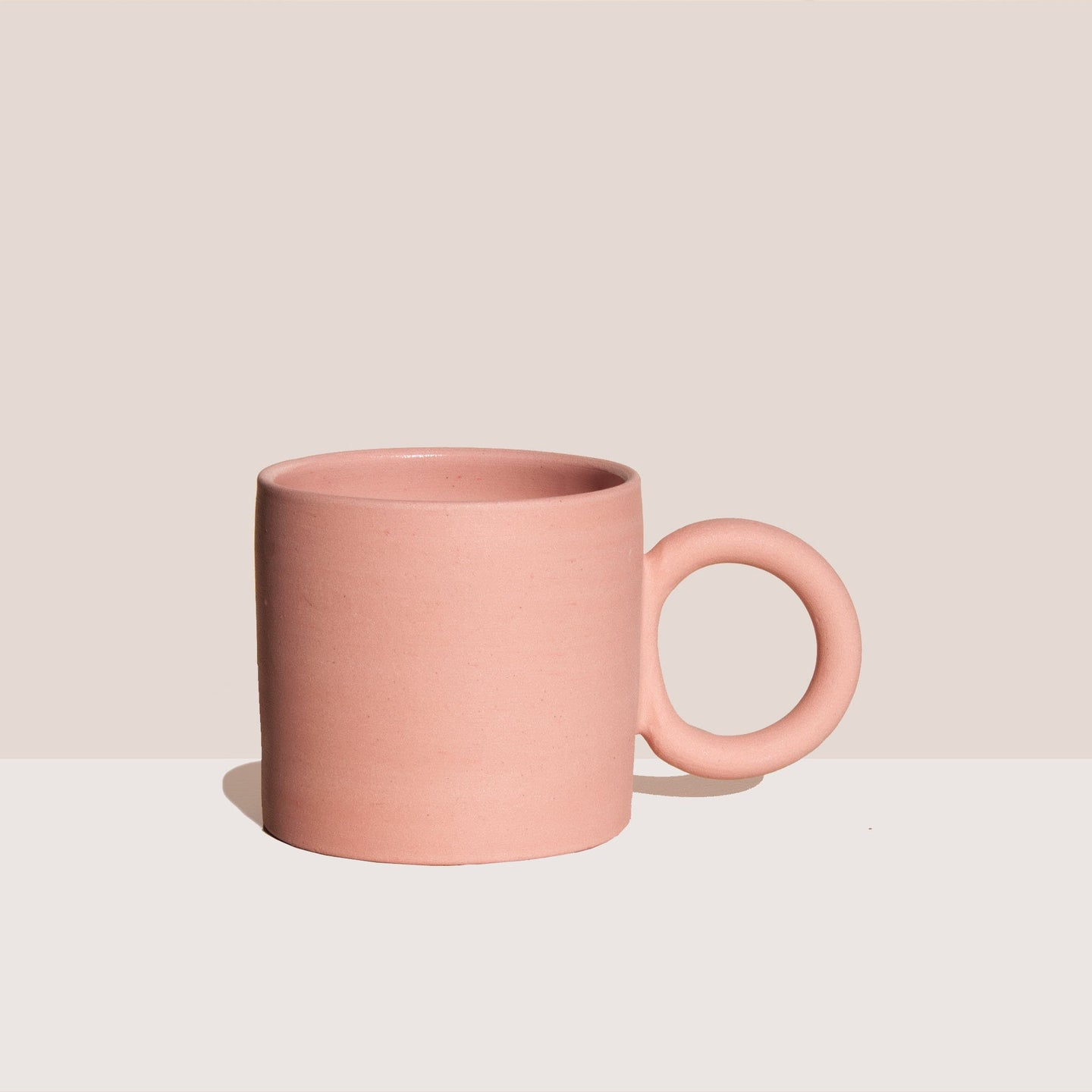 Ekua Ceramics - Circle Mug - Pink, available at LCD.
