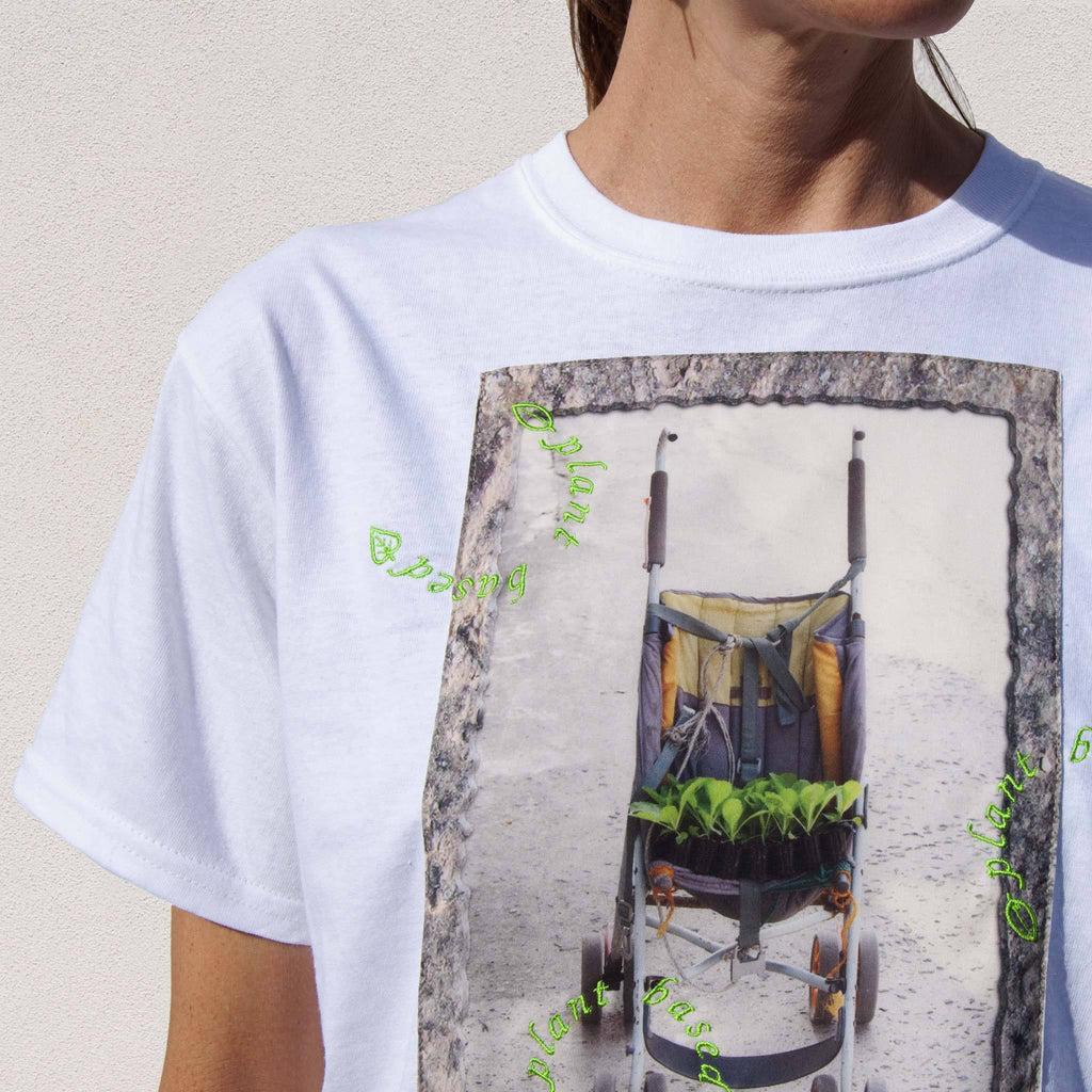 Collina Strada - Plant Based Tee, front detail, available at LCD.