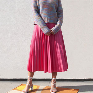 MM6 - Pleated Skirt, front view, available at LCD.
