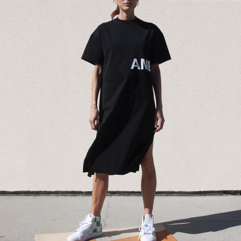 Ambush - Pocket T-Shirt Dress, front view, available at LCD.