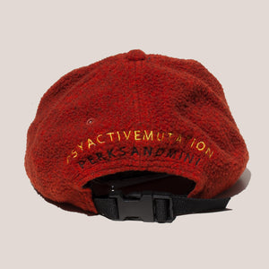 Perks and Mini - Polartec Gesture Cap in Rust, back view, available at LCD.