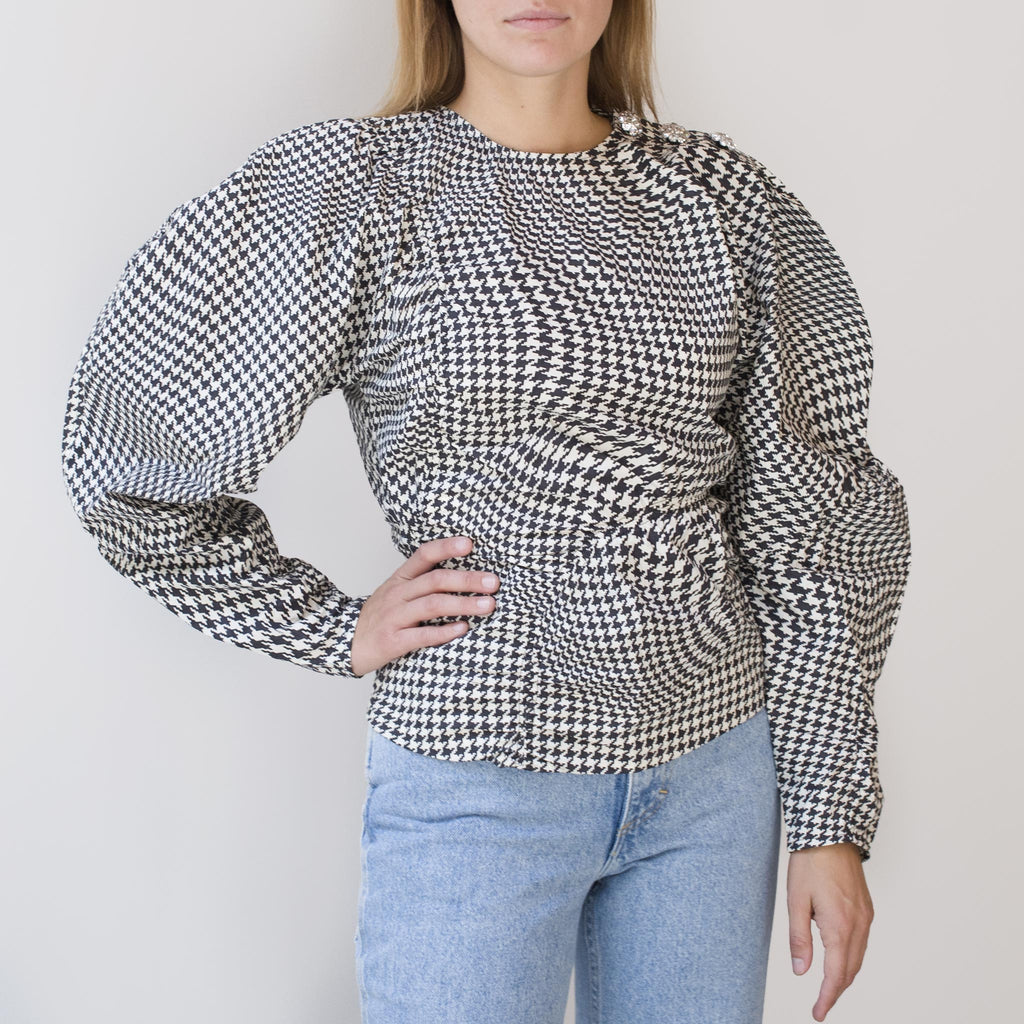 Ganni - Poplin Blouse - Brazilian Sand, front view, available at LCD.