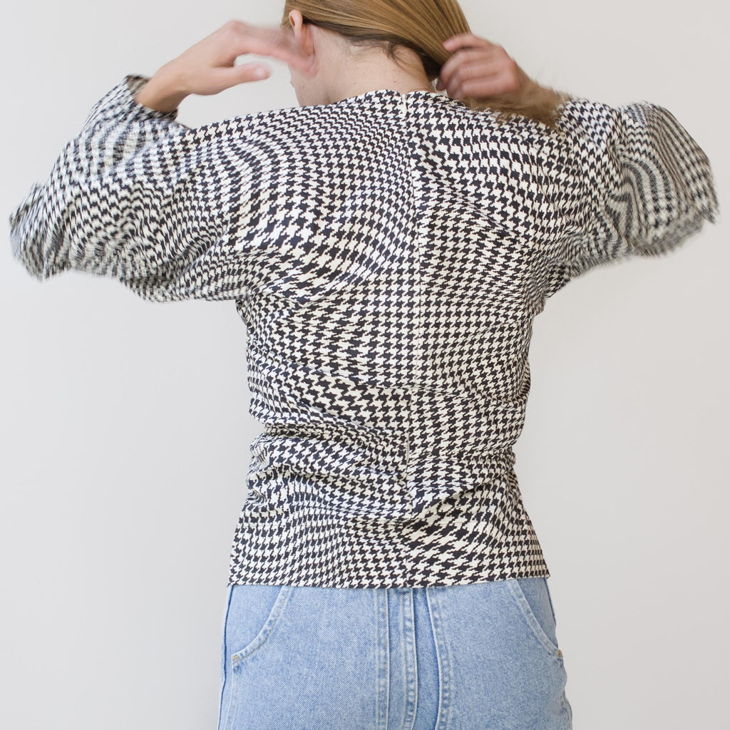 Ganni - Poplin Blouse - Brazilian Sand, back view, available at LCD.