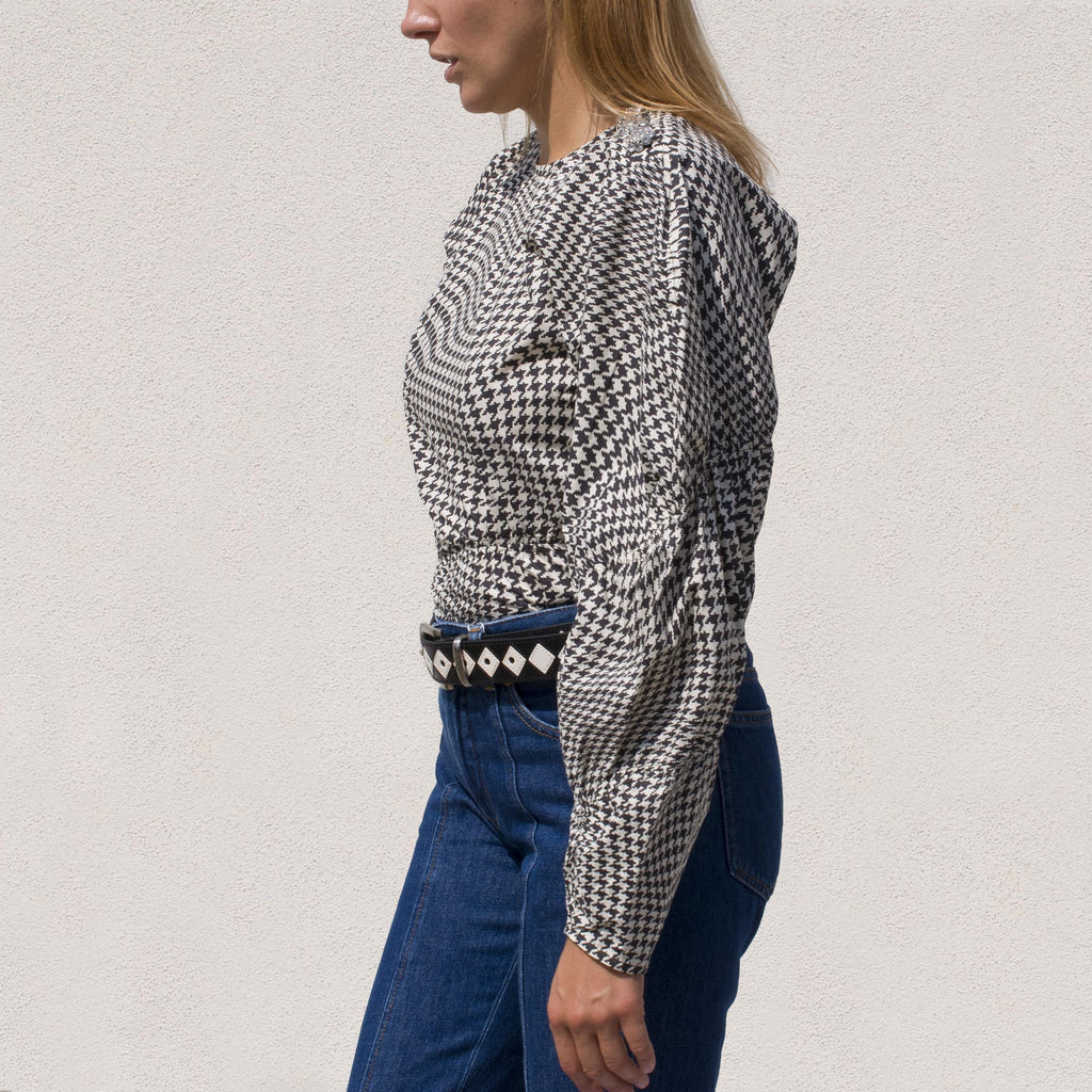 Ganni - Poplin Blouse - Brazilian Sand, side view, available at LCD.