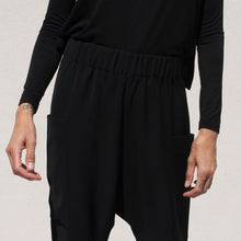 Load image into Gallery viewer, Roucha - Pouch Pant in Black, front detail view, available at LCD.