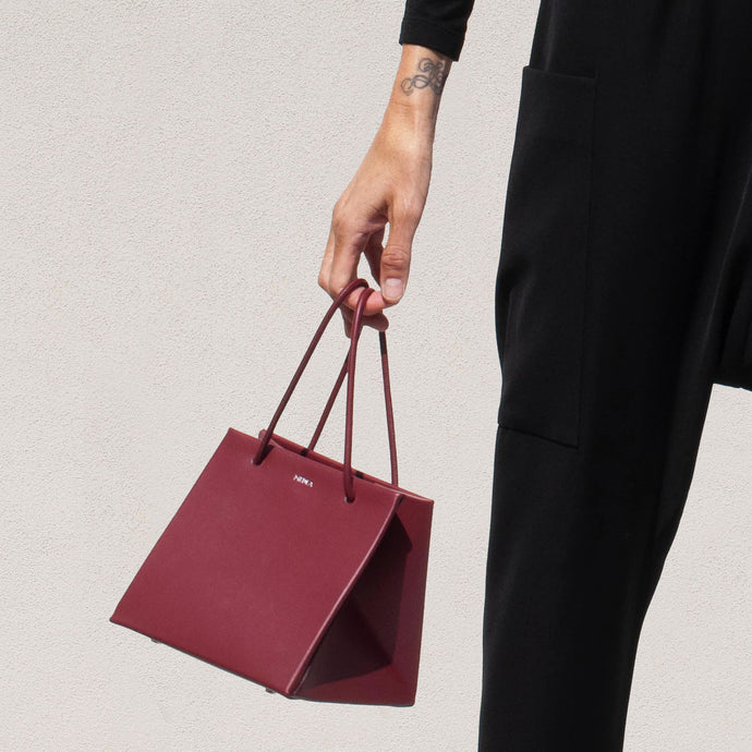 Medea - Ice Prima Bag in Bordeaux, available at LCD.