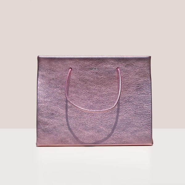 Medea - Prima Hanna Bag in pink metallic color, front photo.