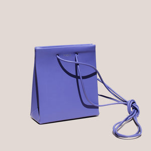 Medea - Prima Short with Long Strap in Violet, angled view, available at LCD.