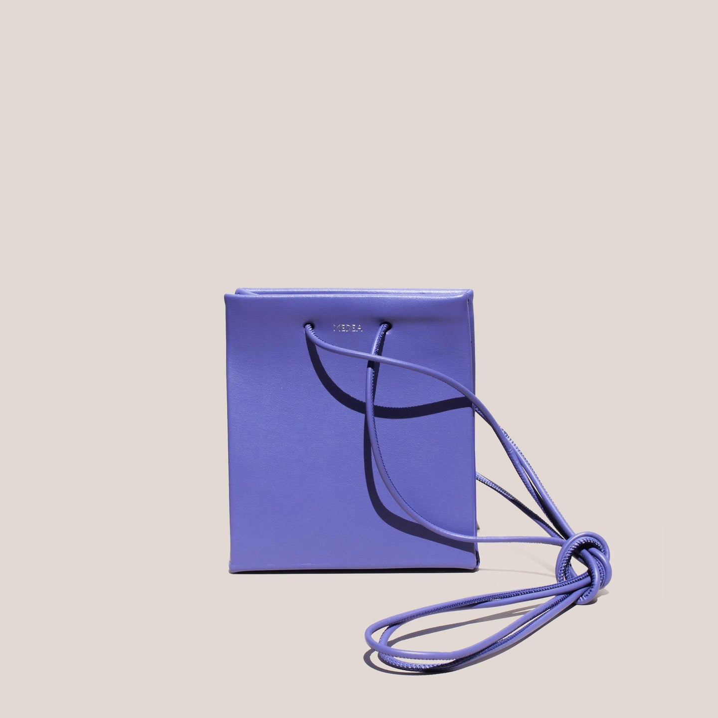 Medea - Prima Short with Long Strap in Violet, front view, available at LCD.