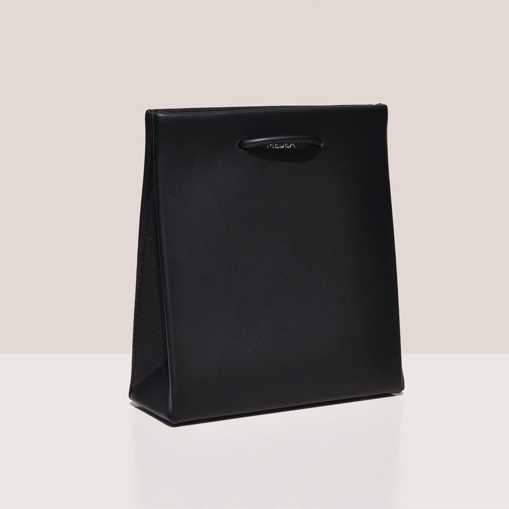 Medea - Prima Short Bag in black, angled photo.