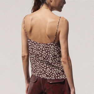 Ganni - Printed Cami, back view, available at LCD.