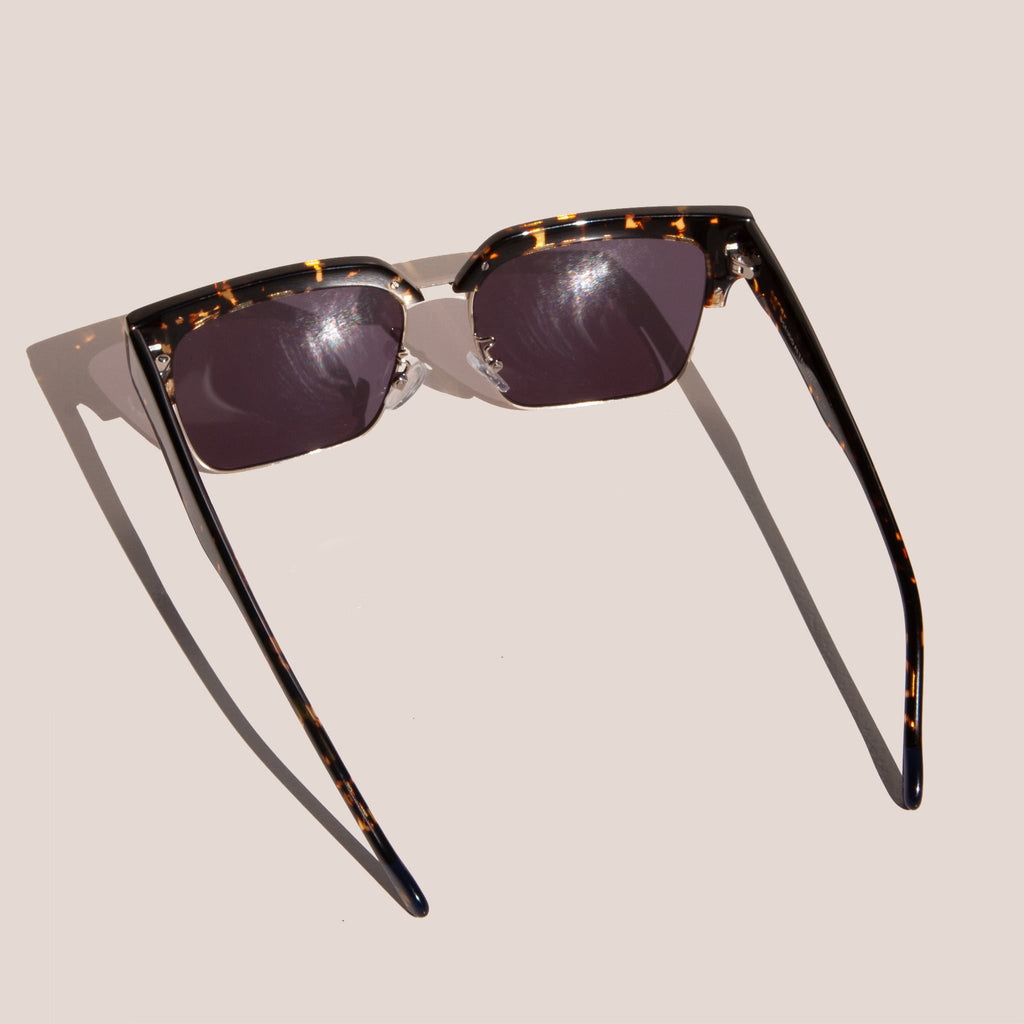 Le Specs - Pseudo Sunglasses - Tokyo Tortoise & Gold, back view, available at LCD.