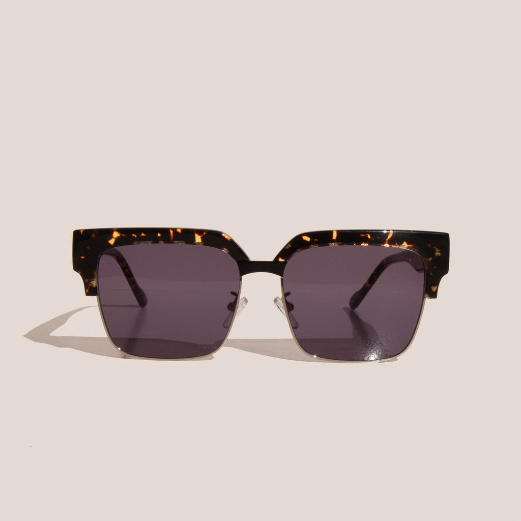 Le Specs - Pseudo Sunglasses - Tokyo Tortoise & Gold, front view, available at LCD.