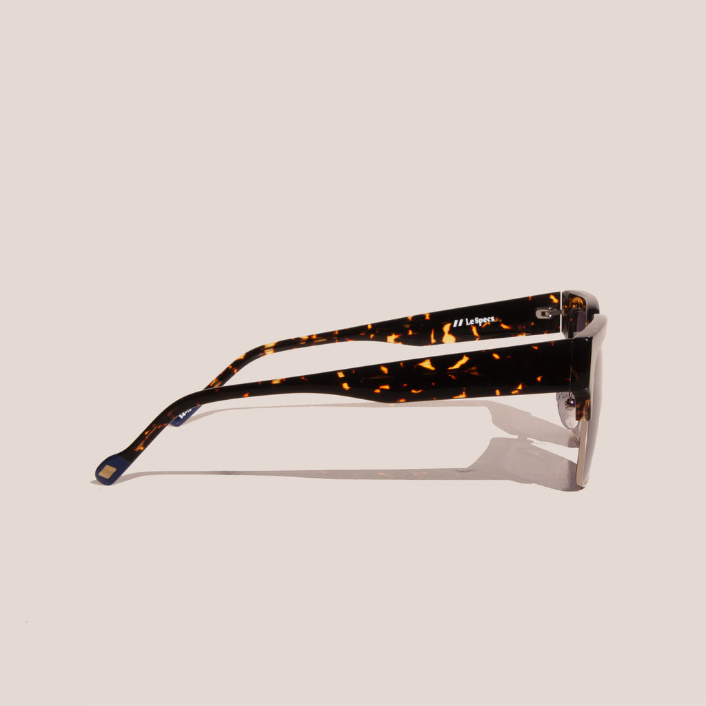 Le Specs - Pseudo Sunglasses - Tokyo Tortoise & Gold, side view, available at LCD.