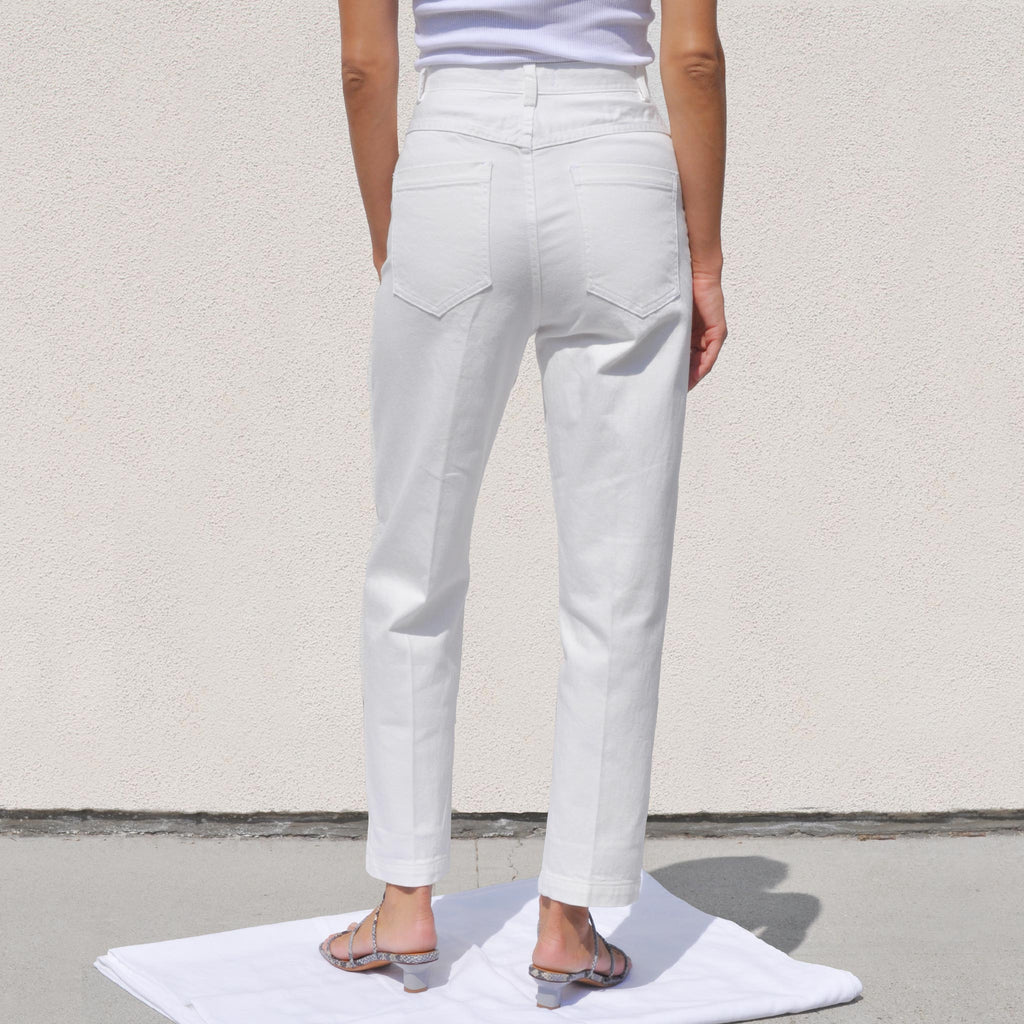 Rachel Comey - Pseudo Pant - Raw White, back view, available at LCD.