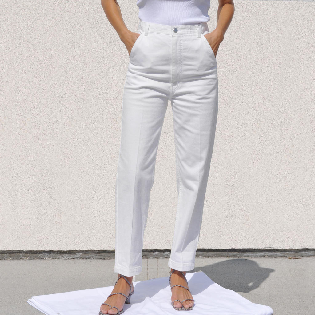 Rachel Comey - Pseudo Pant - Raw White, front view, available at LCD.