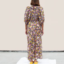 Load image into Gallery viewer, Les Reveries - Puff Sleeve Bias Dress, back view, available at LCD.