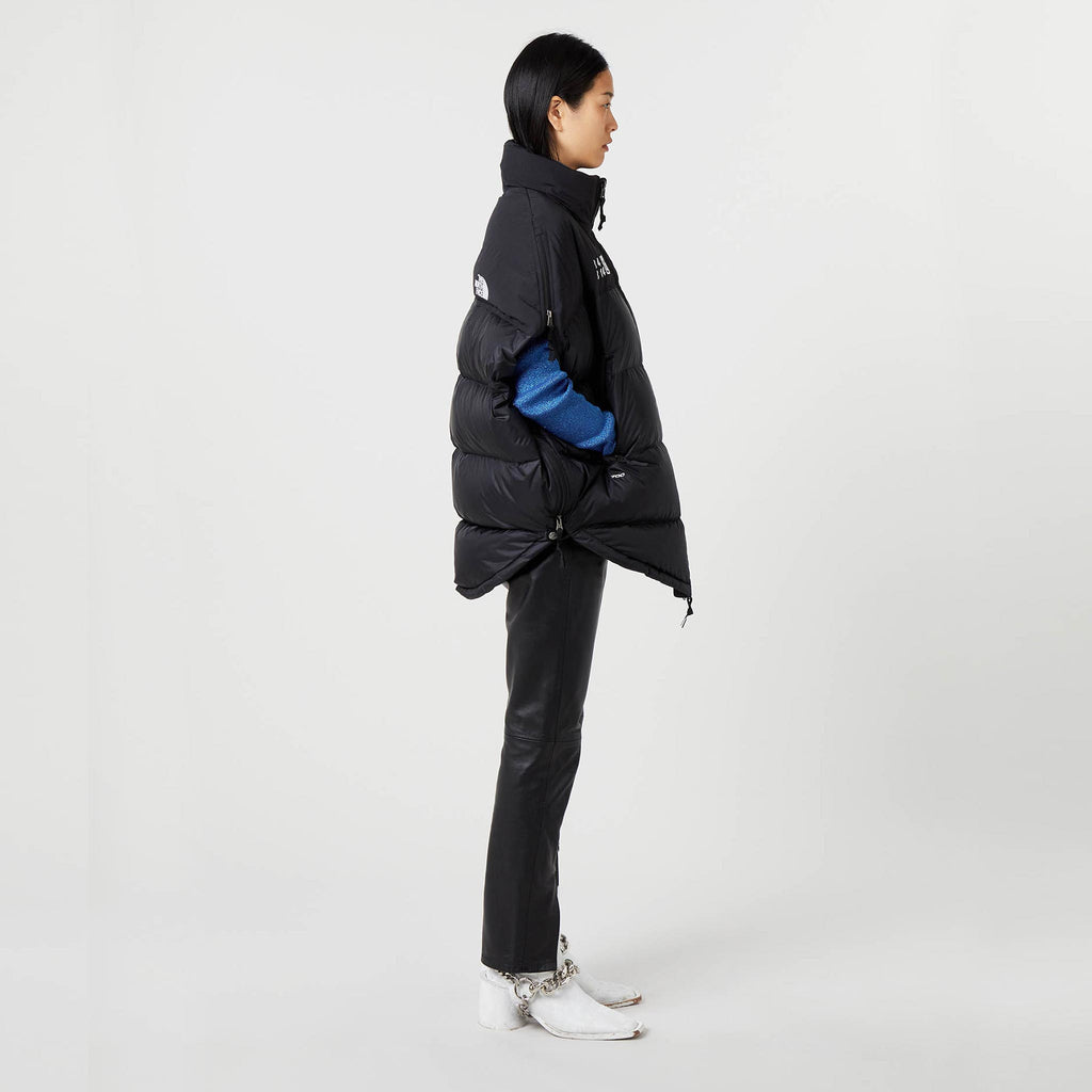 MM6 - Puffer Circle Vest - Black, side view.