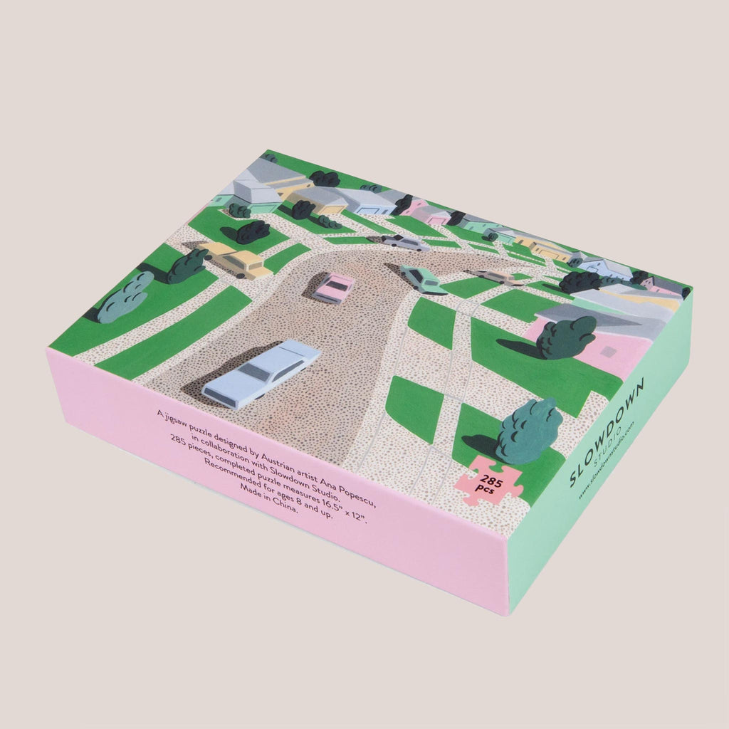 Slowdown Studio - Pastel Suburbia Puzzle, available at LCD.