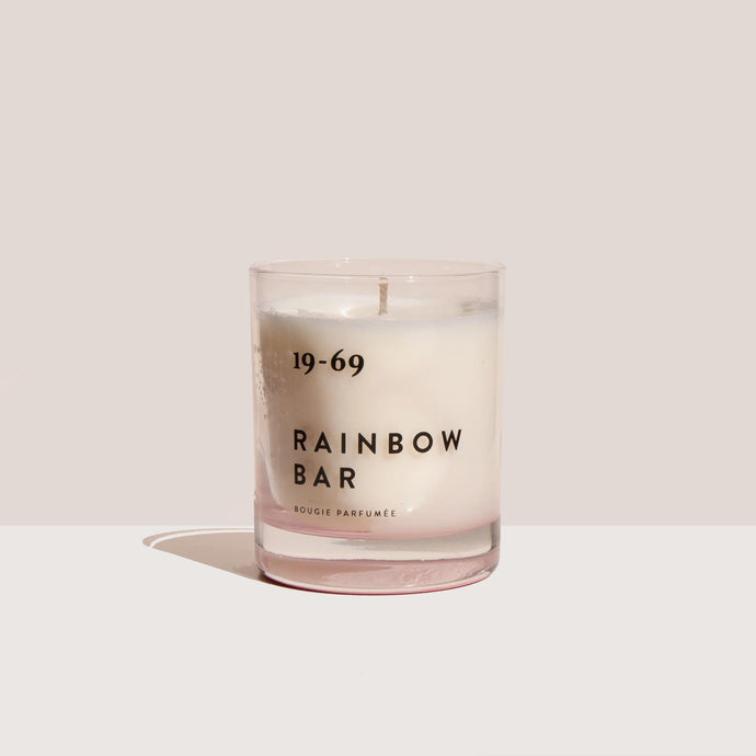 19-69 - Rainbow Bar Bougie Parfumée, front view, available at LCD.