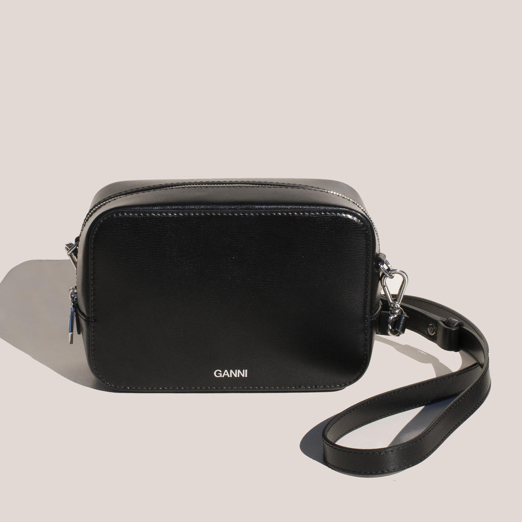 Ganni - SLG Bag - Black, front view.