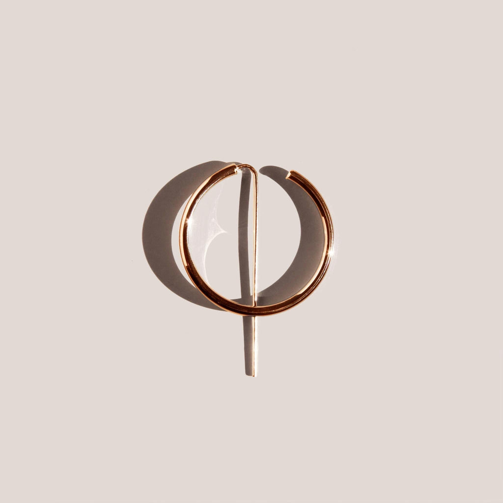 Jaclyn Moran Jewelry - Hoop & Post Earrings - Rose Gold, available at LCD.