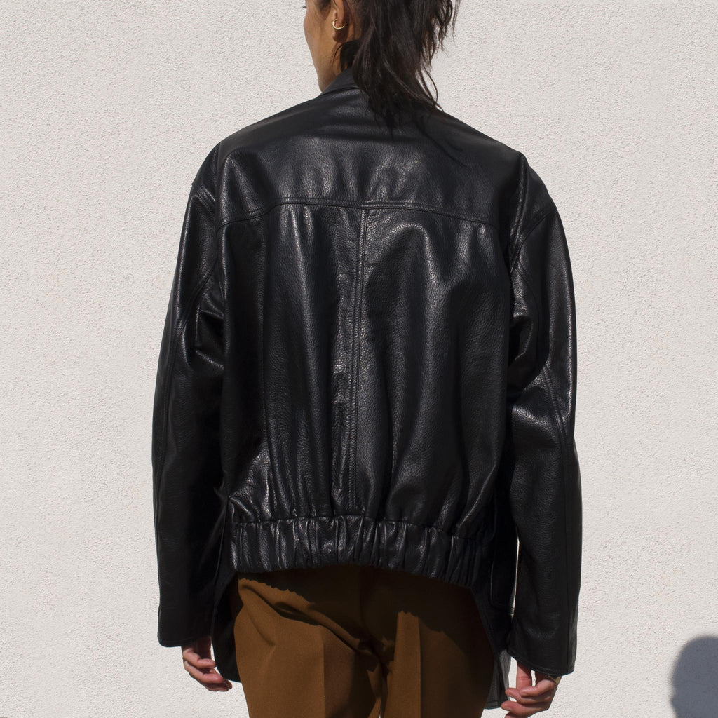 Ambush - Relax Leather Jacket, back view.