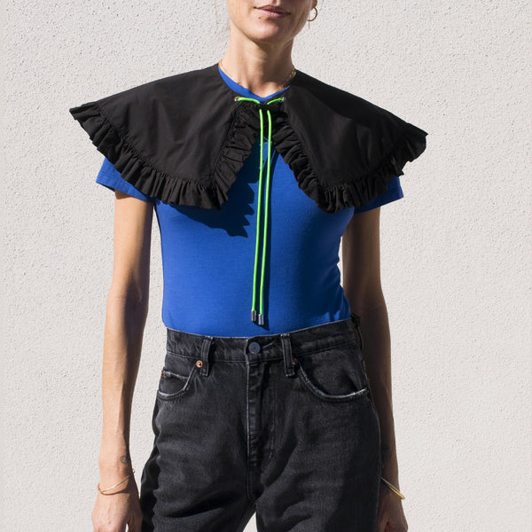 Kkco - Removable Prairie Collar in Black, front view.