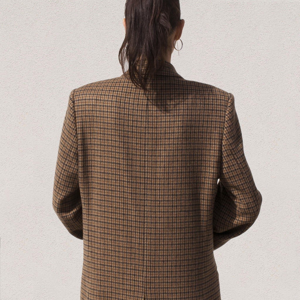Martine Rose - Rex Coat, back view.