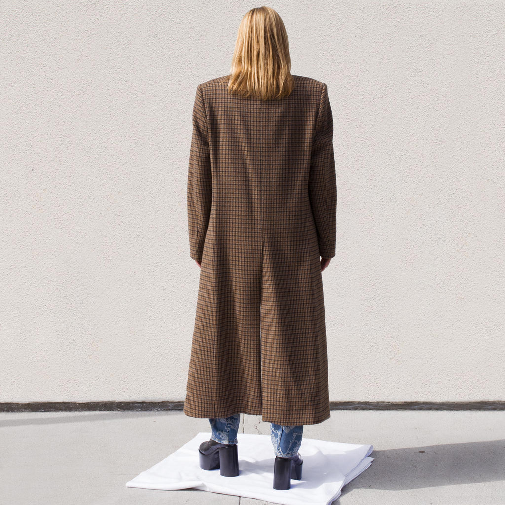 Martine Rose - Rex Coat, front view.Martine Rose - Rex Coat, back view.