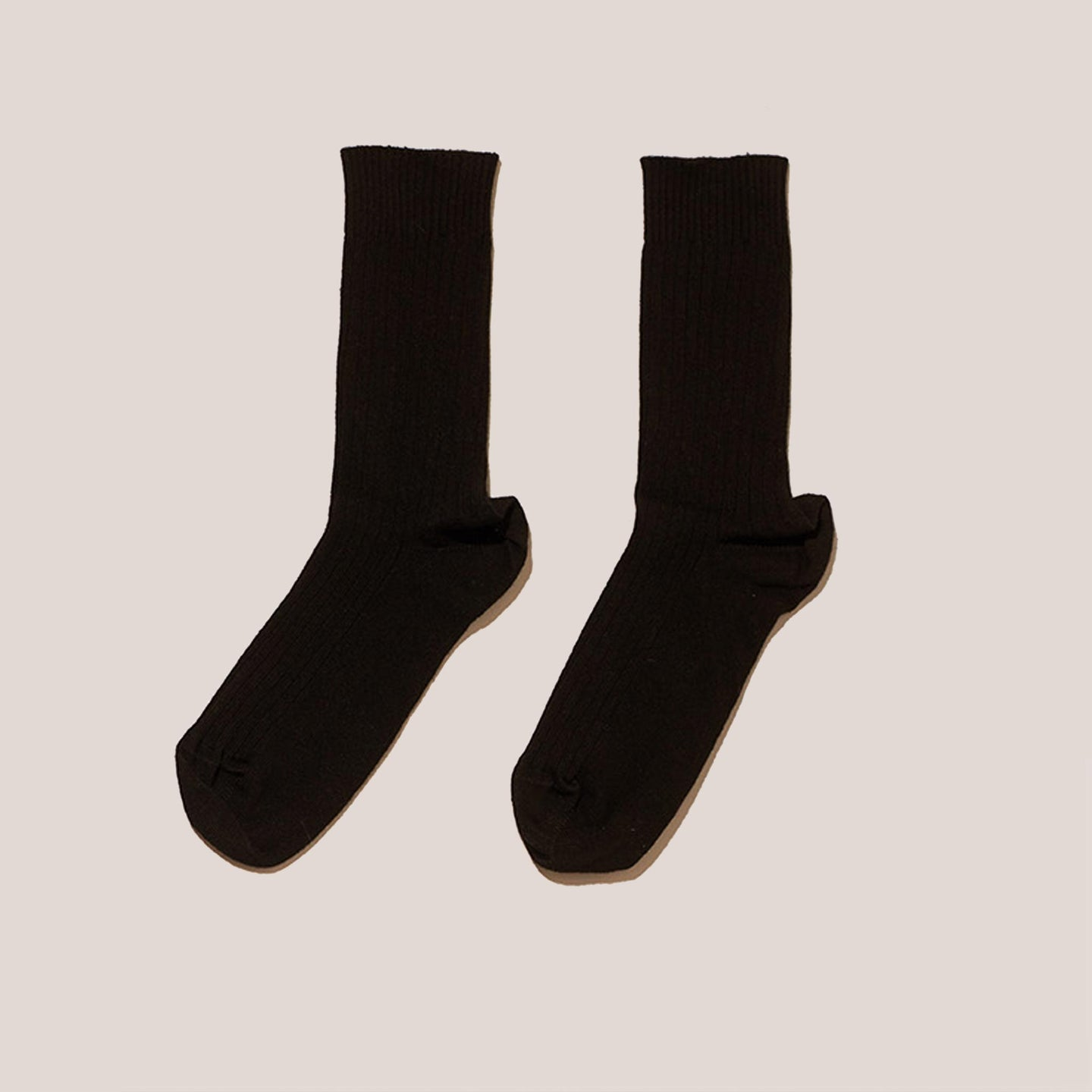 Baserange - Rib Ankle Socks - Black, available at LCD.