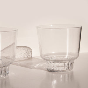 Areaware - Ridge Kitchen Glass Set - Clear, available at LCD.