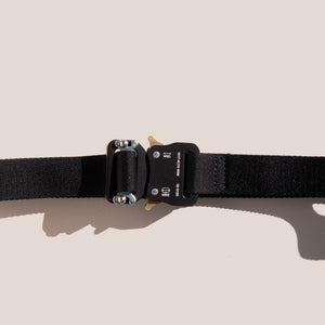 1017 Alyx 9SM - Medium Rollercoaster Belt - Black, available at LCD.