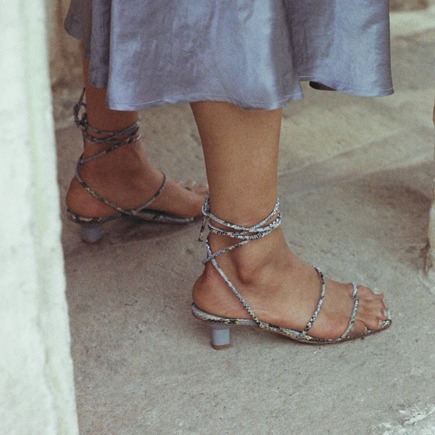 LoQ - Roma Sandals - Luna Snake, available at LCD.