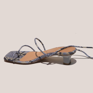 LoQ - Roma Sandals - Luna Snake, back view, available at LCD.