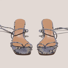 Load image into Gallery viewer, LoQ - Roma Sandals - Luna Snake, front view, available at LCD.